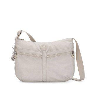 Kipling Izellah Crossbody Bag Glimmer Grey NWT